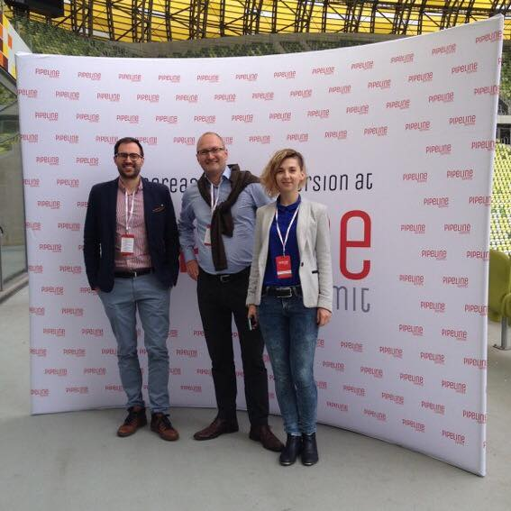 Kasia, Jesper and Jasiek at the Pipeline Summit in Gdansk